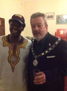 With Mayor Hickman